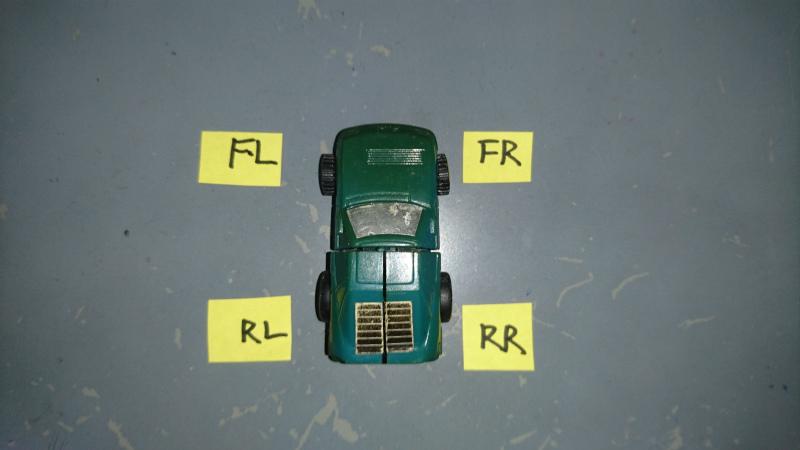 Fはフロントの前・Rはリヤの後ろ  Rは右 Lは左です。