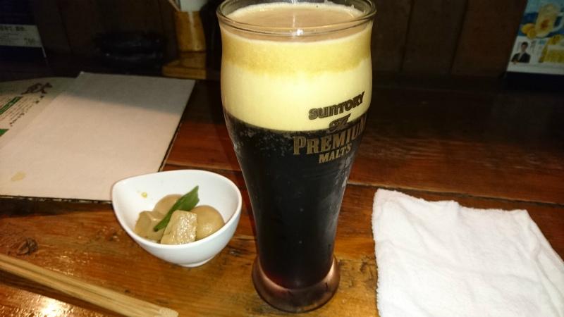 初黒ビール。味の違いわからんさぁ。