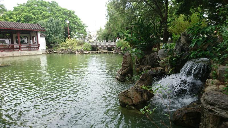 このあたりからマイナスイオン漂う心地よい水音が。