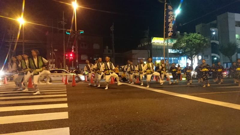 園田青年会。沖縄市の中でも権威ある名うての実力団体です。