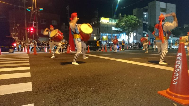 園田青年会。沖縄市の中でも名うての実力団体。