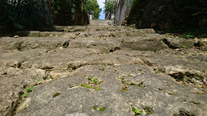 琉球時代に整備された街道。