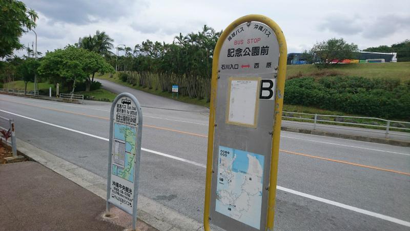 県道114号線沿いに面するバス停