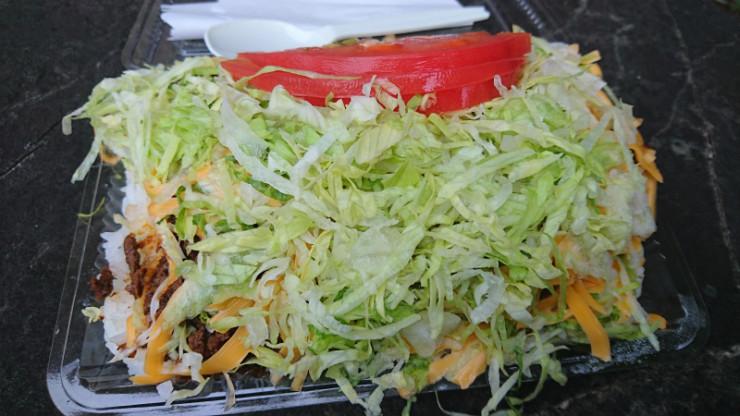 タコライズチーズ野菜。¥600