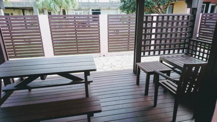 外の風を感じながら沖縄観光話で盛り上がって。