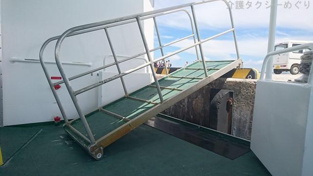 水納島港は福祉目線に欠けたノン・バリアフリーアイランド。車椅子ユーザーへの暖かい配慮を本部町に求めたい。