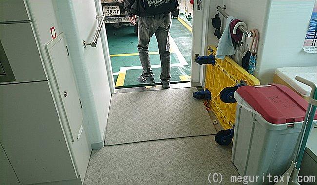 フェリーくだかⅢ船内へとつながる段差解消スロープ