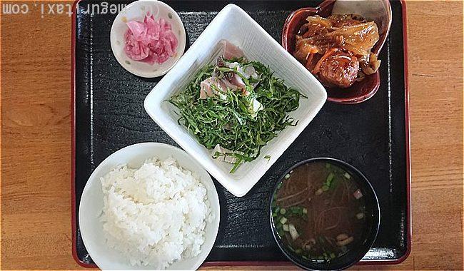 久高島食事処とくじんの「にがな定食」