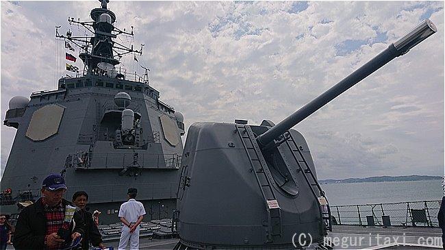 護衛艦ちょうかいの速射砲