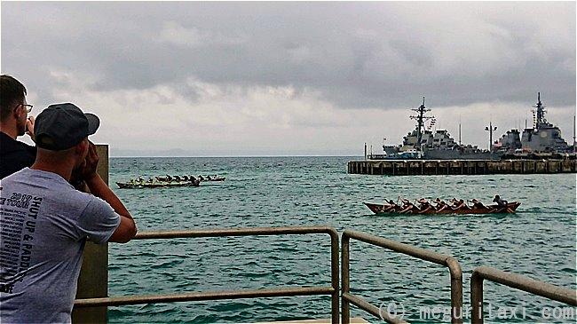 ホワイトビーチ基地 米海軍と海上自衛隊のボートレース
