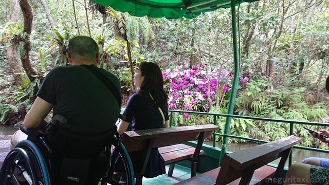 ビオスの丘 湖水観賞舟 車椅子