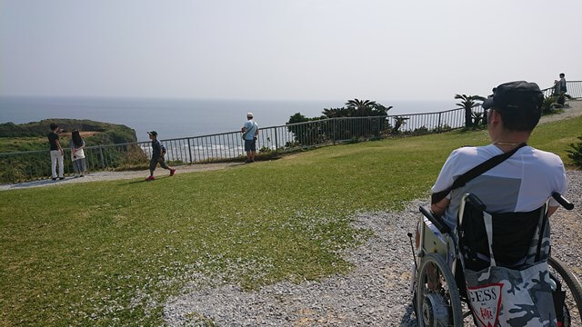 うるま市宮城島果報バンタの絶景ビューと車椅子ユーザー