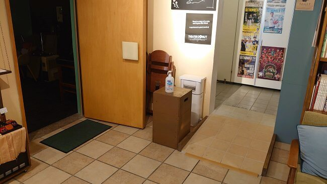 沖縄市・シアタードーナツ・オキナワ1階にある車椅子対応トイレ